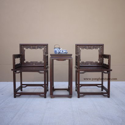 ชุดเก้าอี้จีนพนักโปร่ง