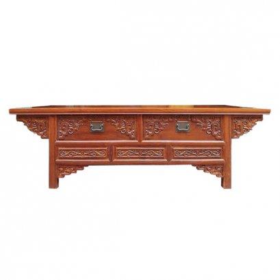 ตู้วางทีวีไม้ 2 ลิ้นชักแกะลายจีน 160 ซม.