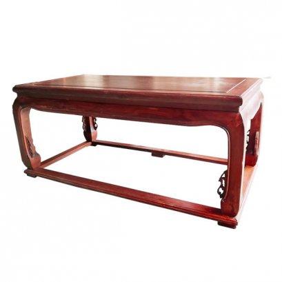 โต๊ะกลางไม้จริงแบบโปร่งแกะลายสไตล์จีน 110 ซม.