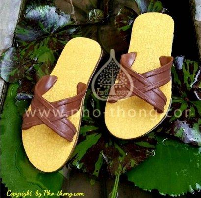 รองเท้าแตะหนีบ (เหลือง-น้ำตาล)(copy)