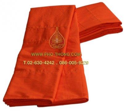จีวร ผ้าโทเร สีพระราชทาน/สีเหลืองทอง เกรด AA ขนาด 1.90 ม.