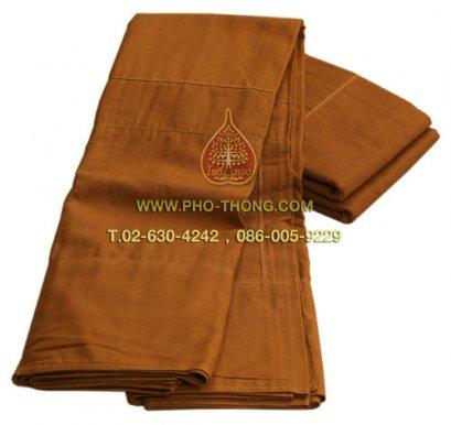 จีวร ผ้าโทเร เกรดAA  สีแก่นบวร(วัดป่า) ขนาด 1.80 ม.