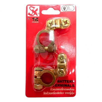 SK Brass Battery Terminal Set