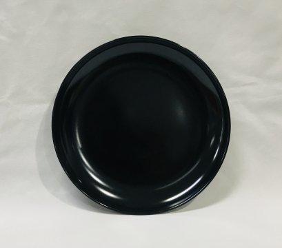 """จานกลมใบบัว 7.5"""" (สีดำ)"""