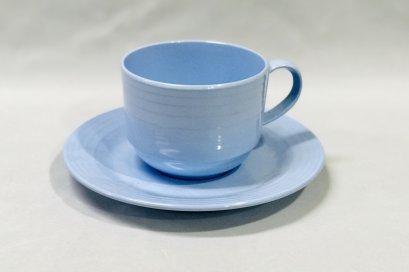 """ชุดถ้วยกาแฟพร้อมจานรอง 6"""" (สีฟ้า)"""