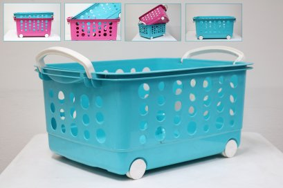 Stockable Trolley Basket (L)Size L610xW440xH295mm
