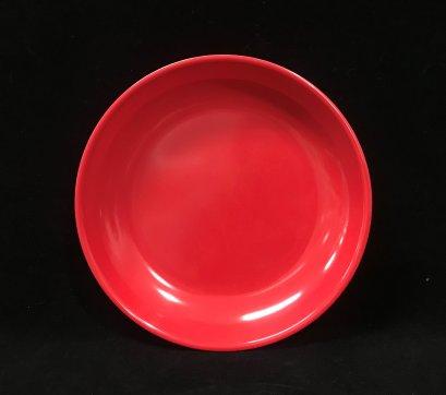"""จานทรงกลม 9"""" (สีแดง)"""