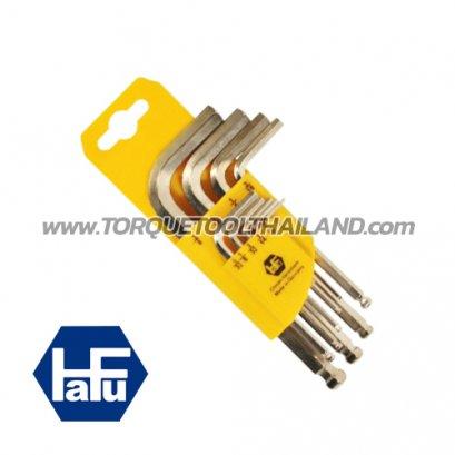 HAFU ชุดประแจแอลหกเหลี่ยมหัวบอลสั้น(นิ้ว) 401-498-52