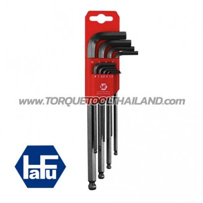 HAFU ชุดประแจแอลหกเหลี่ยมหัวบอลยาว 451-390-08