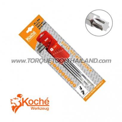ชุดประแจหกเหลี่ยมหัวท็อกซ์แบบยาว KCHW03SL