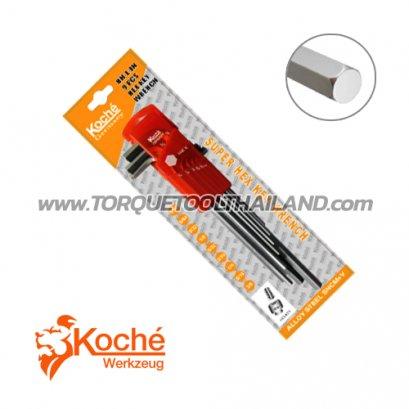 ชุดประแจหกเหลี่ยมตัวยาว KCHW02SL_inch