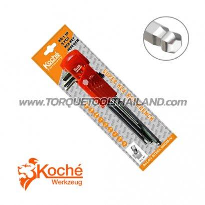 ชุดประแจหกเหลี่ยมตัวยาวหัวบอล KCHW02SL_inch