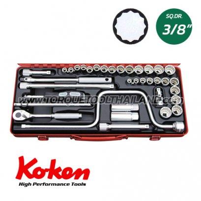 """3201AM  บล็อกชุด 12P (SQ.DR.3/8"""")  Socket Set"""