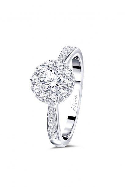 แหวนเพชรดิลาวี  เพชรน้ำ100  D Color