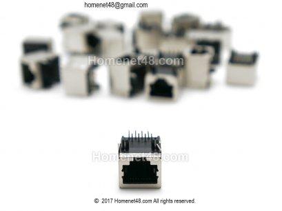 (ของหมด) อะไหล่สำหรับเปลี่ยนซ่อม หัว LAN (RJ45) ตัวเมีย 1 Port (เฉพาะหัว)