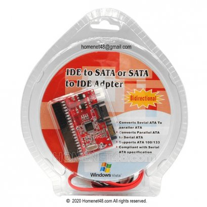 IDE to Sata or Sata to IDE Adapter Package