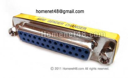 หัว Parallel 25 Pins ตัวเมีย 2 ด้าน (F>F)
