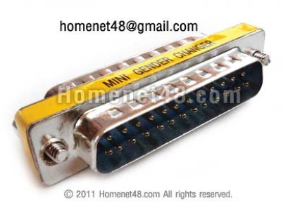 หัว Parallel 25 Pins ตัวผู้ 2 ด้าน (M>M)