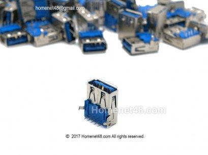 อะไหล่สำหรับเปลี่ยนซ่อม หัว USB 3.0 ตัวเมีย 1 Port (เฉพาะหัว)
