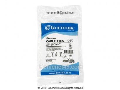 เคเบิ้ลไทร์ 4 นิ้ว (Cable Ties) GIANTLOK เกรด A สีขาว