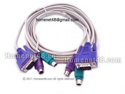 (ของหมด) สายต่ออุปกรณ์ KVM Switch แบบ PS2 (VGA+2PS2) ยาว 3 เมตร