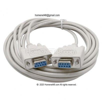 สาย RS232 Serial Port 9 pins (DB9) สายต่อ (F-F) 5 เมตร