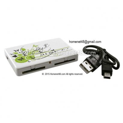 USB Card Reader ทรงเหลี่ยม อ่านการ์ดหลากหลาย + เป็นตลับเก็บ Memory
