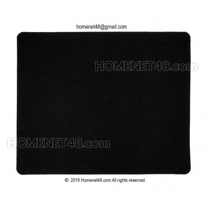 แผ่นรองเม้าส์ผ้า (Mouse Pad) พื้นยางธรรมชาติ  20x23.5 ซม. บางแต่ทน (สีดำ)