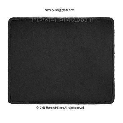 แผ่นรองเม้าส์ผ้า (Mouse Pad) พื้นยาง เย็บขอบสีดำ กันรุ่ย (20x24 cm.) หนา 3 มิล