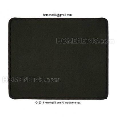 แผ่นรองเม้าส์ผ้ากันน้ำ (Mouse Pad) พื้นยาง เย็บขอบ (21x25 cm.) หนา 5 มิล
