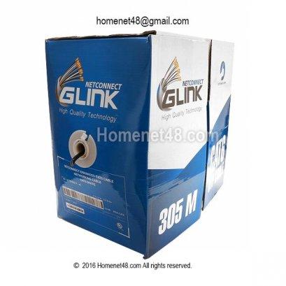 สายแลน CAT6 GLINK กล่องใหญ่ ใช้เดินสายนอกอาคาร (305M/Box)