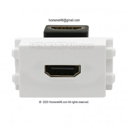HDMI Outlet - HDMI Wall Plate (4K) Socket Module (90-Degree)