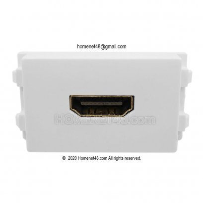 HDMI Outlet - HDMI Wall Plate (4K) Socket Module (Straight-Head)