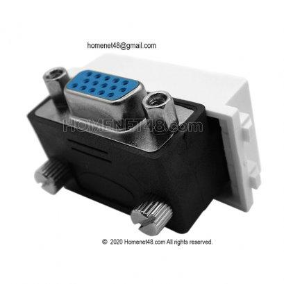 VGA Outlet - VGA Wall Plate - VGA Socket Module (90 Degree)