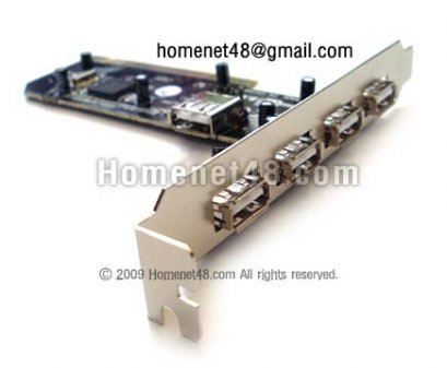 PCI Card to USB 2.0 (4+1)