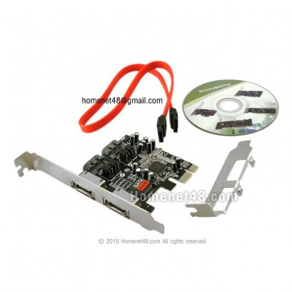 PCI Express to 2 E-Sata + 2 sata  (Slot ยาว+สั้น)