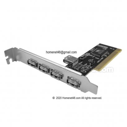 PCI Card to USB 2.0 (4+1) เพิ่ม port usb