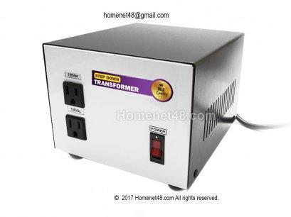 หม้อแปลงไฟ 220V เป็น 120V (2 ช่อง) (1000VA) (ประกัน 1 ปี)