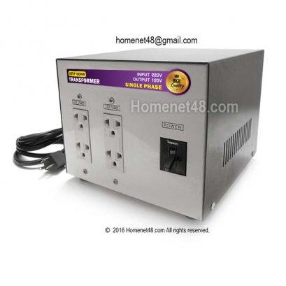 หม้อแปลงไฟ 220V เป็น 120V (4 ช่อง) (1500VA) (ประกัน 1 ปี)