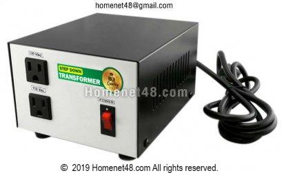 หม้อแปลงไฟ 220V เป็น 110V หรือ 120V (300VA) (ประกัน 1 ปี)