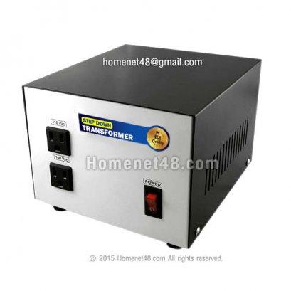 (ของหมด) หม้อแปลงไฟฟ้า 220V เป็น 110V+100V (600VA) (ประกัน 1 ปี)