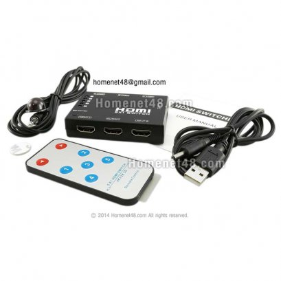 HDMI (V1.4b 3D 1080P) Switcher เข้า 5 ออก 1 + Remote