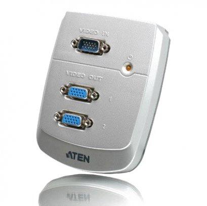 Video Splitter ATEN (ของแท้) รุ่นแขวนผนัง (VS-82) เข้า 1 ออก 2 จอ