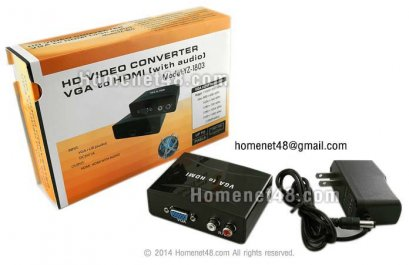 PC to TV Converter (แปลง PC-VGA เป็น TV-HDMI 1.3 + เสียง)
