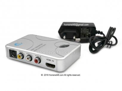 HDMI to AV Box + Adapter แปลง HDMI เป็นช่องเสียบ AV (FY1320)