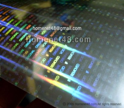 Sticker Void รับประกัน Hologram 3 มิติ สำเร็จรูป (แผ่นเปล่า)