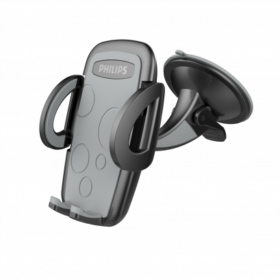 PHILIPS Car Mount Stand w/Suction Cup 360 - Black