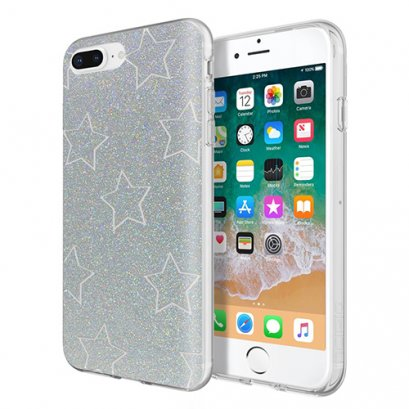 Incipio Design Series - Classic for iPhone 8 Plus, iPhone 7 Plus, & iPhone 6 / 6s Plus - Glitter Star Cut Out