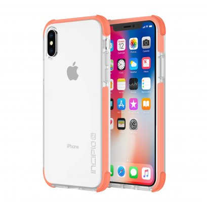 Incipio Reprieve Sport for iPhone X / XS - Coral/Clear