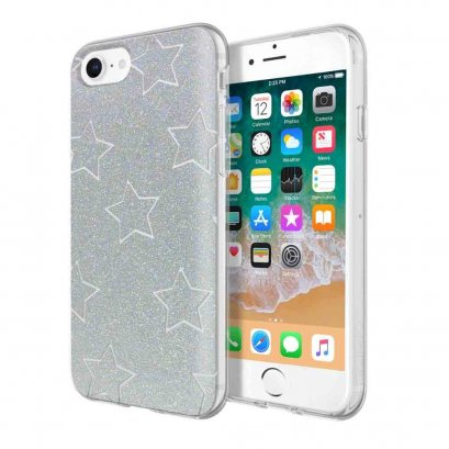 Incipio Design Series - Classic for iPhone 8, iPhone 7, & iPhone 6 / 6s - Glitter Star Cut Out